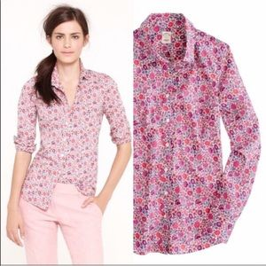 J Crew Perfect Fit Liberty in D'Anjo Floral Print